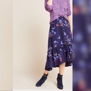 NWT Anthropologie Merida Flounced Midi Skirt